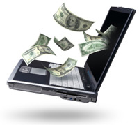 Laptop with Money